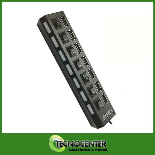 hub usb 7 puertos extensión multiplicador adaptador switch