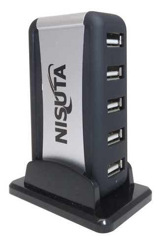 hub usb de 7 puertos con fuente usb 2.0 para pc