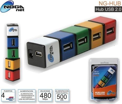 hub usb noga 4 bocas ng-hub cubos colores - factura a / b