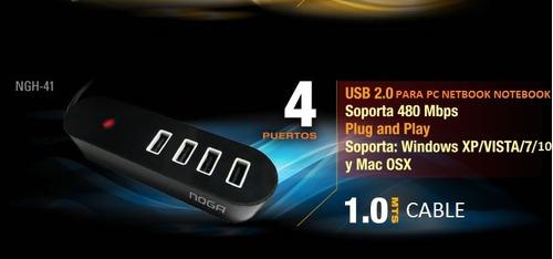 hub usb para pc netbook y notebook x 4 puertos box