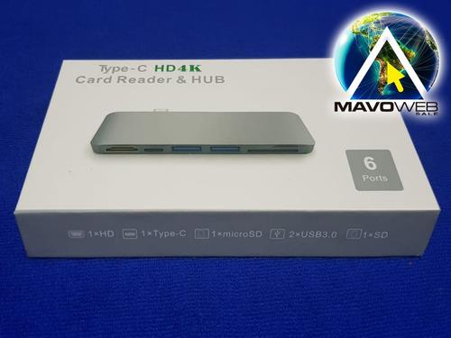 hub usb tipo c macbook pc smartphone galaxi hdmi 4k usb 3.0