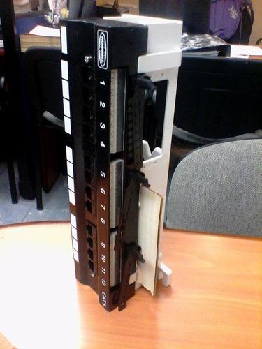 hubbell hpw5fa12 categoria 5e patch panel 12 port  con base