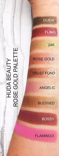 huda beauty textured rose gold edition paleta sombras promo