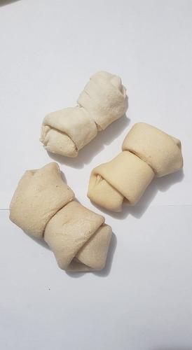 hueso de cuero blanco x 3 unidades 3/4 golosina perro