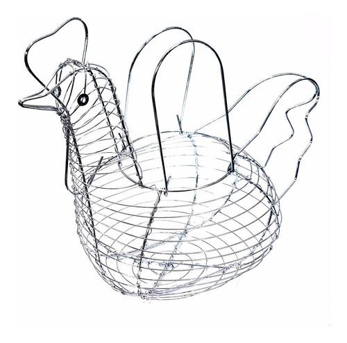 huevera cromada gallina porta huevos animal granja original