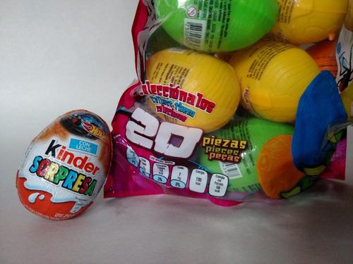 huevo sorpresa dinosaurios 20pz, plastico