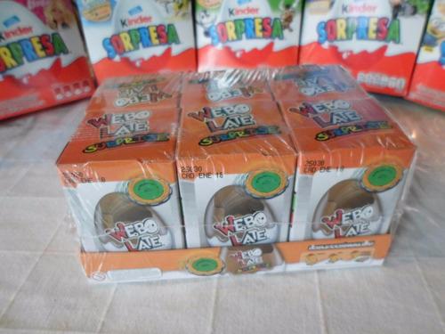 huevo sorpresa tipo kinder spin blyder 6pz chocolate