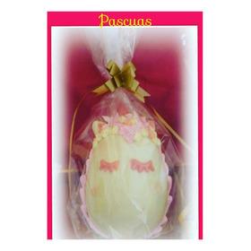 Huevo Unicornio De Pascuas Chocolate En Flores Con Sorpresa