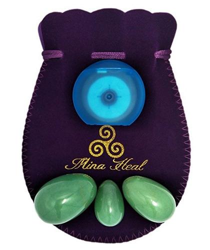 huevos de piedras preciosas set yoni mina healt jade verde