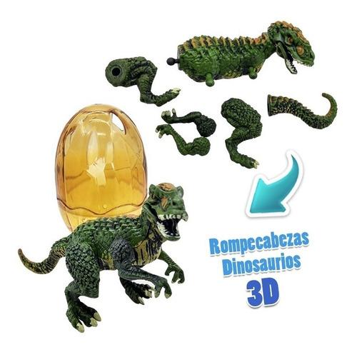 huevos dinosaurio rompecabezas 3d huevo sorpresa juguete x3