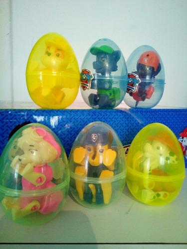 huevos paw patrol sorpresa set 4 uds
