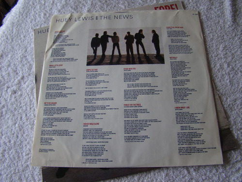 huey lewis & the news fore! lp usa vinilo excelente+++
