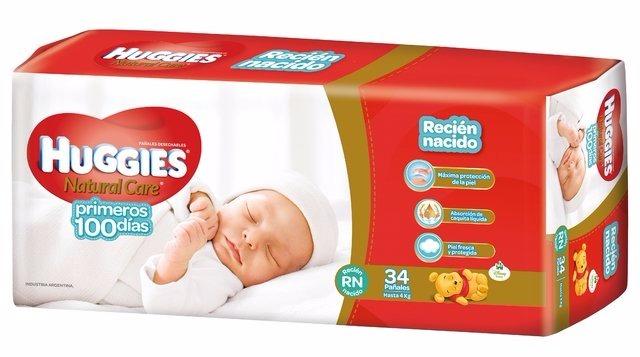 ef2b8f9131e Huggies Natural Care Ellos Y Ellas Recién Nacido X 102 Unid -   920 ...