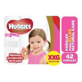 Huggies Natural Care Hiperpack Para Ellos Y Ellas - Pañalera Arenita