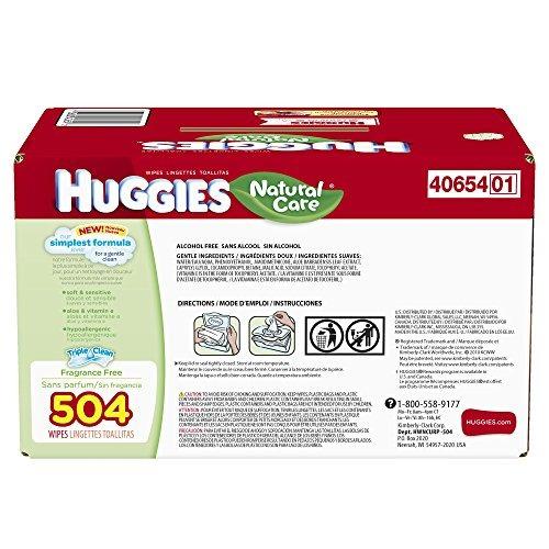 huggies natural care toallitas húmedas, repuesto, 504 conde