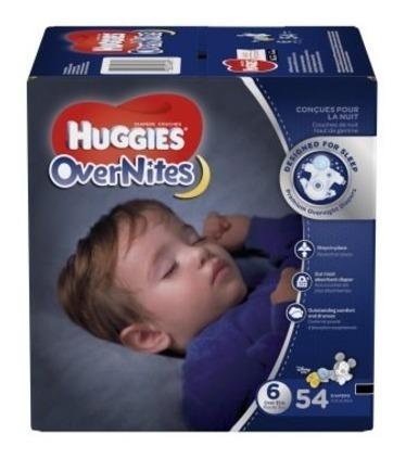 huggies overnites pañales, el super pack (elija su tamaño)