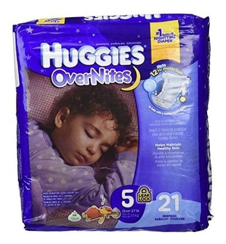 huggies pañales overnites - tamaño 5 - 21 de ct