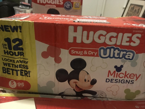 huggies ultra soft pants diapers, small (pack of 108)