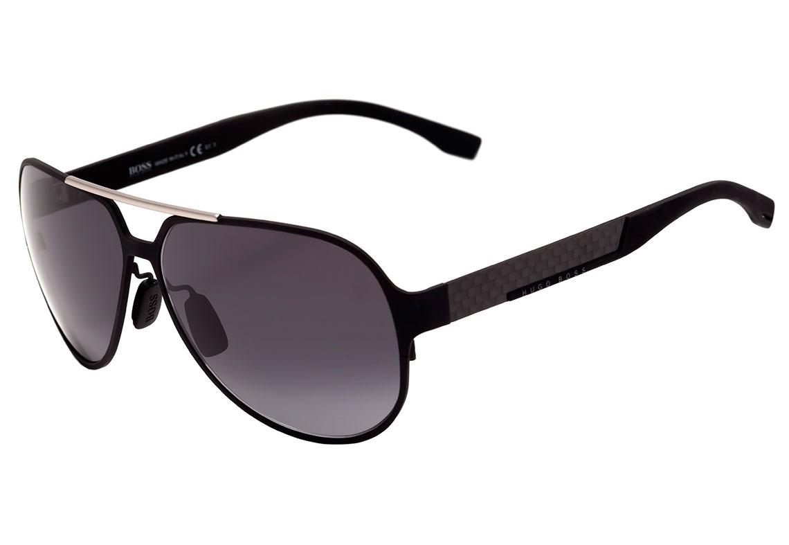 c158fdba607cbb hugo boss boss 0669 s - óculos de sol hxj hd preto fosco . Carregando zoom.