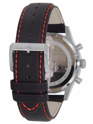 Reloj Hugo Boss Aeroliner Cron 243 Grafo Piel Negra 1512919
