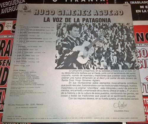 hugo giménez agüero - la voz de la patagonia infinitoventas