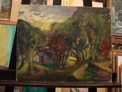 hugo sosa / paisaje bosque / 40 x 50 cm # 1444
