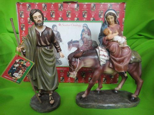 huida de egipto santini 25 cms de altura italiano coleccion