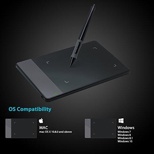 huion 4 x 2.23 pulgadas osu tableta gráfica dibujo pen