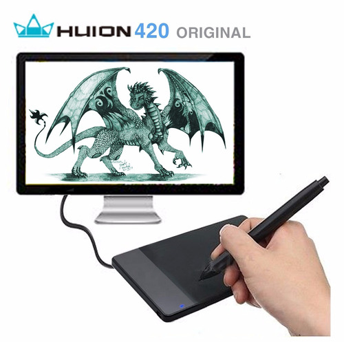 huion 420 mesa digitalizadora tablet p/ desenho 4' original