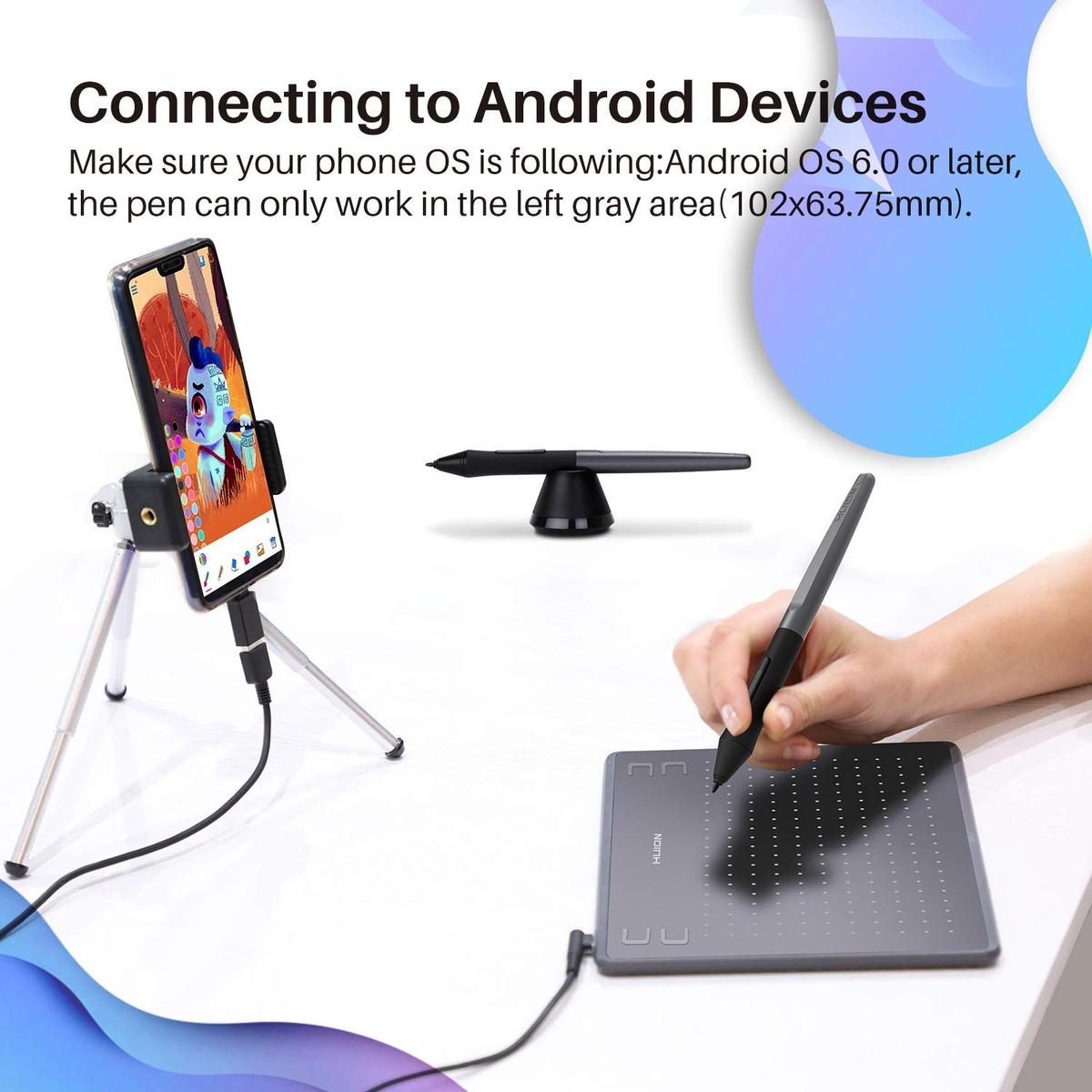 Huion Hs64 Gráficos Del Dibujo Tablet Dispositivos Android C