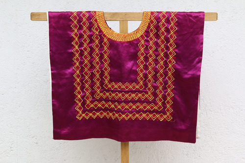 huipil de tehuana de cadenilla: blusa regional de istmo oax