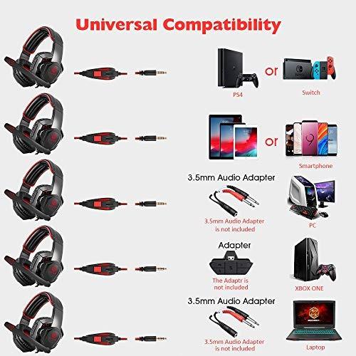 huiyujia auriculares para juegos estéreo con orejeras de m