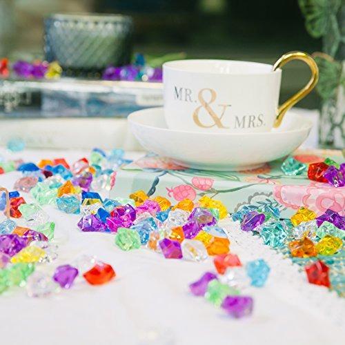 huji acrilico pirata joyas de colores a granel gemas falsos