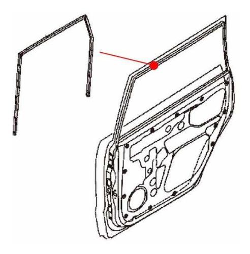 hule corredera/cañuela tsuru 3, 4 puerta del/tras izq/der.