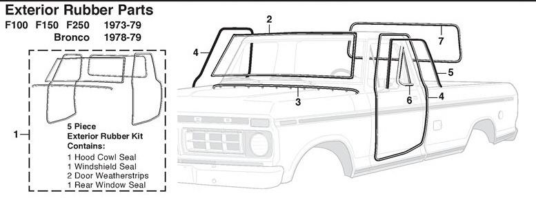 hules para puertas ford pick up del 67 al 79