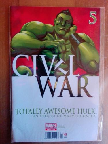 hulk 5 civil war editorial televisa