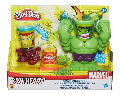 hulk avengers marvel play doh can heads ref: b0308 hasbro