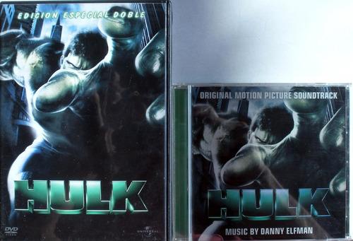 hulk - danny elfman - 2 dvd + cd soundtrack imp. usa