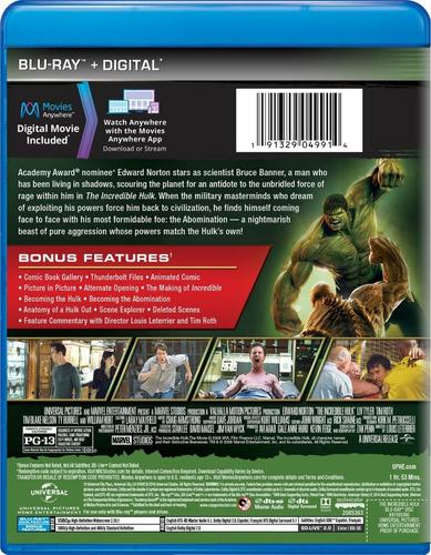 hulk: el hombre increíble (blu-ray+hd) original!!