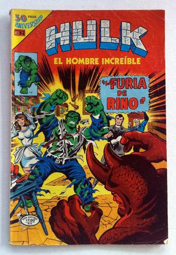 hulk el hombre increíble no. 18. 1980 novaro, serie avestruz