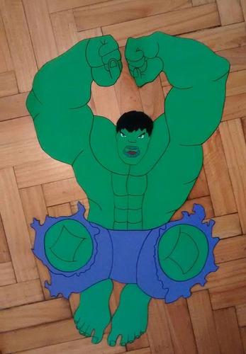 hulk en goma eva 70 cm. cualquier personaje!!