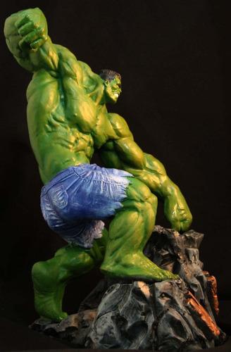 hulk escultura de resina 1/6 40 cm