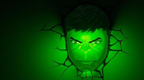 hulk lámpara de noche 3d marvel 3d deco light