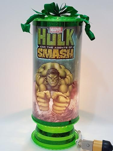 hulk super hero avengers 10lámparas 38cm centros d mesa pers