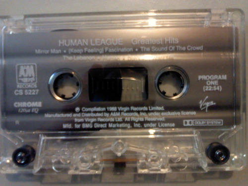 human league greatest hits cassette importado + cd transfer