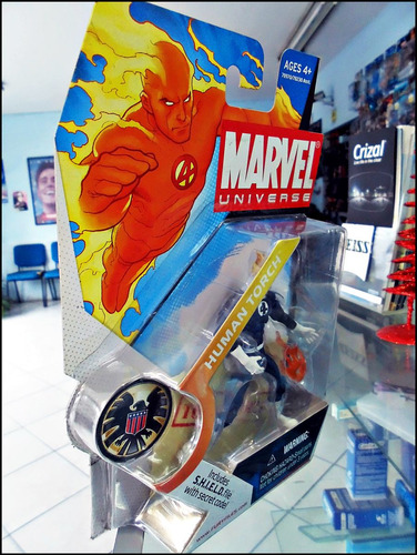 human torch,marvel universe,serie 3 011,nuevo sellado,figura