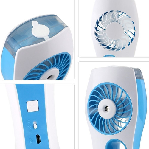 humidificador ambiental mini ventilador recargable portatil