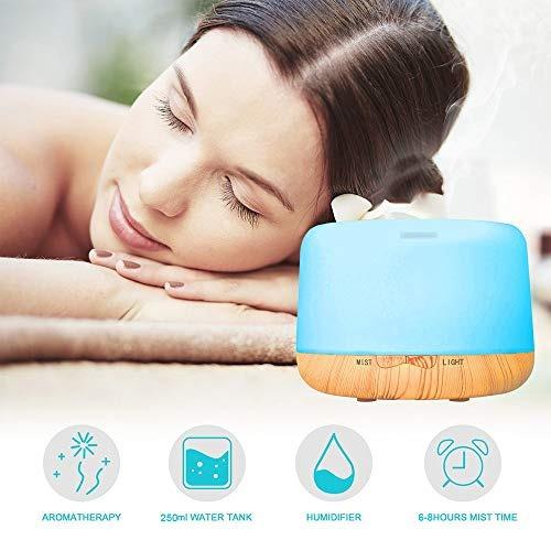 humidificador aromaterapia, 250ml humidificador difusor de