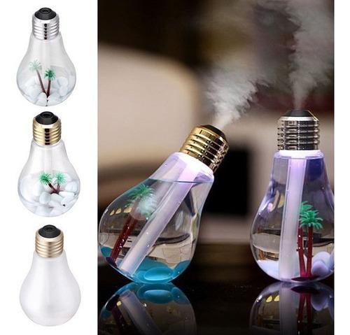 humidificador difusor aromas tipo foco led lampara