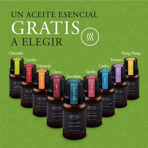 humidificador difusor aromaterapia 400ml + aceite gratis
